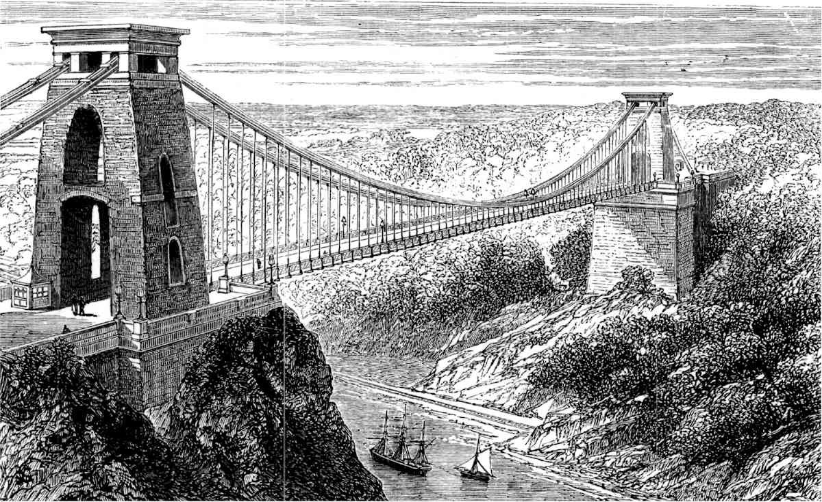 Suspension Bridge at Clifton, courtesy of the Gutenberg Project