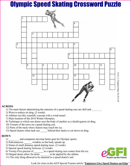Egfi For Teachers Olympic Speed Skating Puzzle