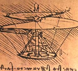 Da Vinci Helicopter Design