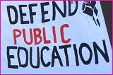 Defense of Public Education Banner