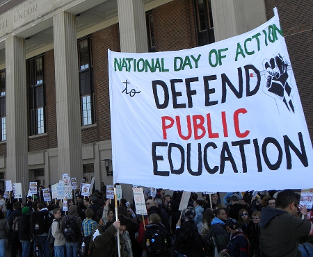 National Day of Action in Defense of Public Education by Fibonacci Blue (Flickr Commons)