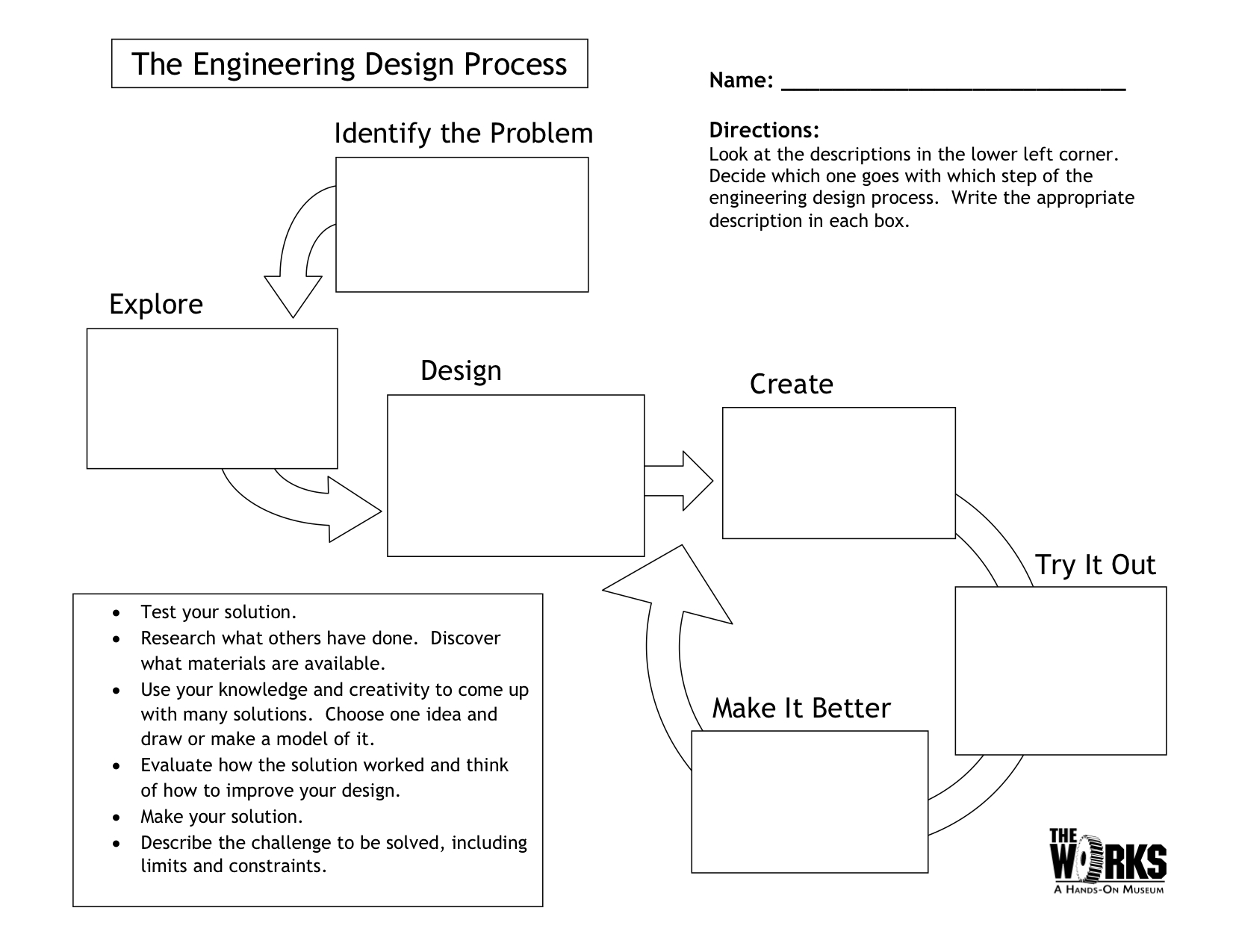 worksheet Design An Experiment Worksheet egfi for teachers lesson the engineering design process process