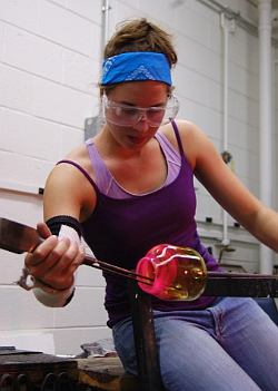 Glassblowing (image by focal1x - Flickr Commons)