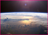 Curved Horizon of Earth