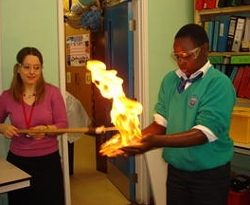Students Manipulate Fire