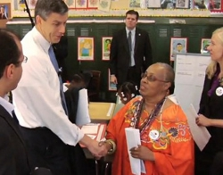 Endeavor Fellow Netosh Jones with Education Secretary Arne Duncan