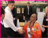 Endeavor Fellow Netosh Jones with Education Secretary Arne Duncan