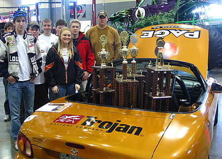 Chris Tolbert's Students and their Award-Winning Electric Car
