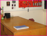 Empty Teacher's Desk