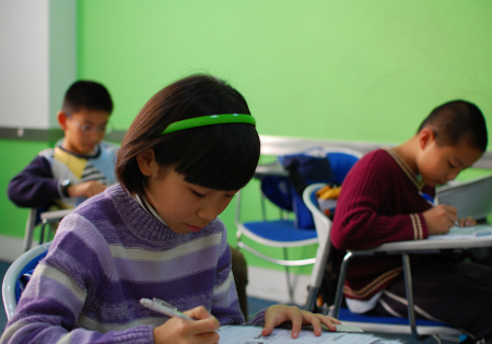 Kids taking a test (flickr commons - rzganoza)