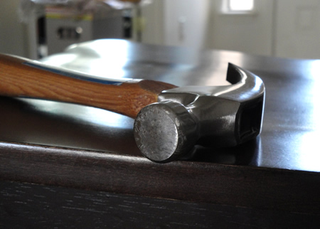 A Hammer in a Student Workspace