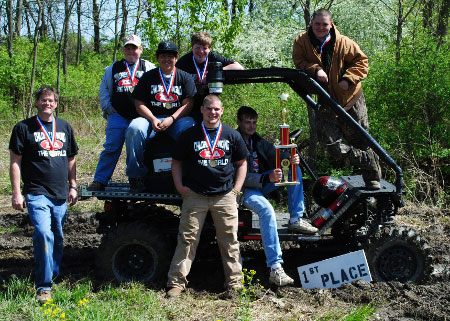Brian Copes and his Students with their Award-Winning BUV