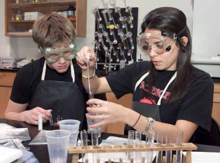 High School Students Work in a School Lab (Image from NASA)