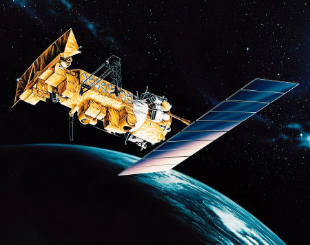 NOAA Satellite Collecting Weather Data