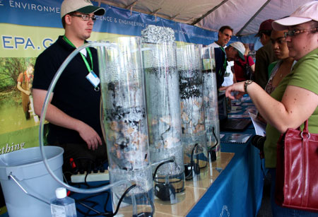 The EPA Demonstrates a Water Filtration System
