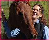 Lisa Pruitt with Horse JJ at a Summer Workshop