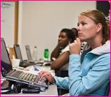 Teacher at Computer (Image from NASA)