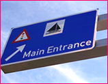 Overhead Road Sign