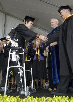 UC-Berkeley Student Austin Whitney Graduates with Exoskeleton