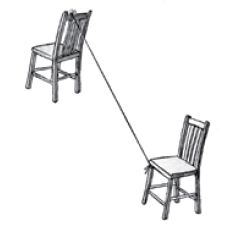 two chairs with zipline