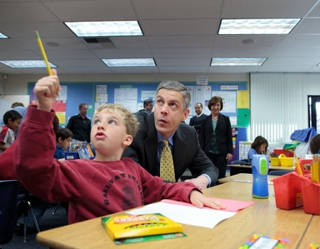 Arne Duncan with Student