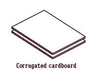 dance pad.Corrugated cardboard