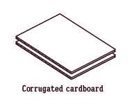 dance pad.Corrugated cardboard