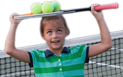 tennis girl with racquet