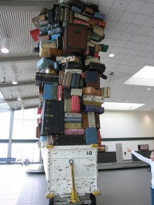 Luggage sculpture