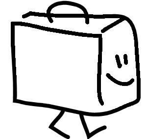 suitcase cartoon