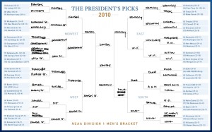 Obama 2010 NCAA bracket picks