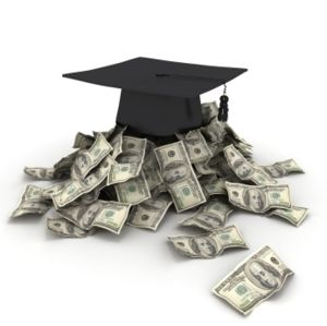 mortarboard and scholarships