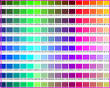 web color chart