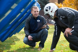 Onano Smart Foam BYU Mechanical Engineering Masters student Jake Merrell demonstrates a smart foam he created called XOnano that can detect force. He is testing the foam in the padding of a football helmet with hopes that it can aid football teams in preventing the long term effects of concussions. October 30, 2013 Photo by Jaren Wilkey/BYU © BYU PHOTO 2013 All Rights Reserved photo@byu.edu  (801)422-7322