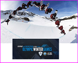 Snowboard scene with NSF logo for 2014 winter olympics