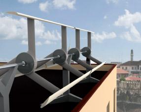 wind turbine rooftop