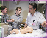 BYU engineering students with neonatal ventilator