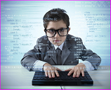 kid coding computer
