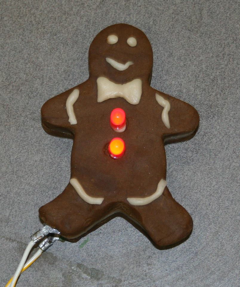 squishy circuit gingerbread man