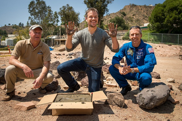 Martian Matt Damon at JPL
