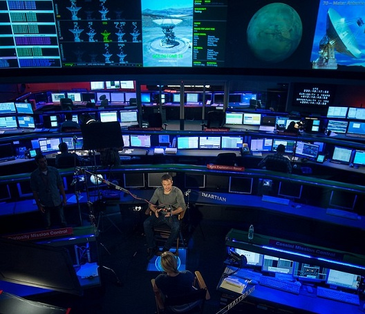 Martian matt damon at control room resize
