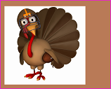 Toon turkey with football and helmet
