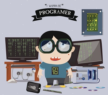 computer programmer kid cartoon resize