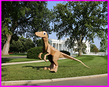cardboard dinosaur at White House maker faire