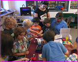 Maker Corps of kids at Keene NH Public Library