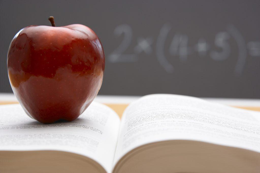 Apple on textbook