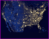 NASA image of USA lights from space