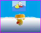 rubber duck upside down