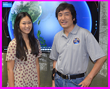 Alice Jiang and JPL's Jonathan Jiang hurricane damage modelers