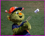 Astros mascot shooting t-shirts
